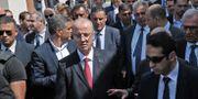 Den palestinska premiärministern Rami Hamdallah då han besökta Gaza den 5 oktober.  SAID KHATIB / AFP