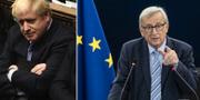 Boris Johnson och Donald Tusk. TT.
