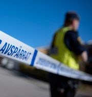 Illustrationsbild. Polisavspärrning. Johan Nilsson/TT / TT NYHETSBYRÅN