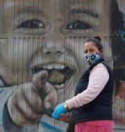 Bild från Bogota.  Fernando Vergara / TT NYHETSBYRÅN