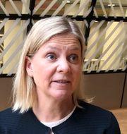 Magdalena Andersson. Wiktor Nummelin/TT / TT NYHETSBYRÅN