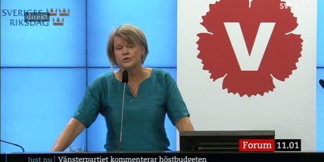 Vänsterpartiets ekonomiskpolitiske talesperson Ulla Andersson.  SVT