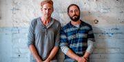 """Gustaf Skarsgård (tv) spelar Martin Schibbye och Matias Varela Johan Persson i filmen """"438 dagar"""". Adam Ihse/TT / TT NYHETSBYRÅN"""