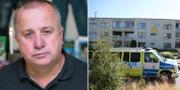 Safet Makas/polisinsatsen efter händelsen förra året. Bengt Löfgren/Uppdrag granskning/SVT/TT