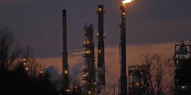 Arkivbild på Exxonraffinaderi i USA. TT