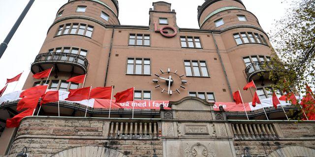 LO-borgen i Stockholm.  Fredrik Sandberg/TT / TT NYHETSBYRÅN