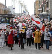Protest i Minsk TT NYHETSBYRÅN