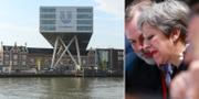 Arkivbilder: Unilevers huvudkontor i Rotterdam. Storbritanniens premiärminister Theresa May.  TT