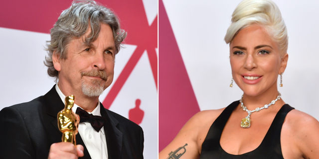 """Green book""- regissören Peter Farrelly och artisten Lady Gaga som spelade i ""A star is born"".  TT"