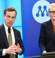 Kristersson och Svantesson. Marko Sääväla/TT / TT NYHETSBYRÅN