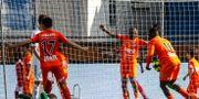 AFC firar 1–0-målet. TOBIAS STERNER / BILDBYRÅN