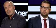 Björklund och Åkesson under debatten. SVT