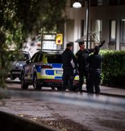 Polisinsatsen efter mordet i Hammarby sjöstad, Stockholm. Christine Olsson/TT / TT NYHETSBYRÅN