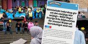 Glasstillverkaren Ben & Jerry's visar sitt stöd för afghanska ungdomar som riskerat att bli utvisade från Sverige.  TT / Ben & Jerry's