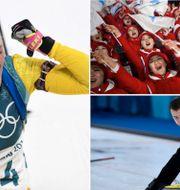Hanna Öberg, den nordkoreanska hejaklacken, den ryska curlaren Alexandr Krushelnitckii, som testade positivt för dopning. TT