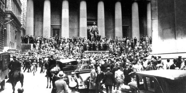Börskraschen 1929. Då höll Stockholmsbörsen igång. TT NYHETSBYRÅN