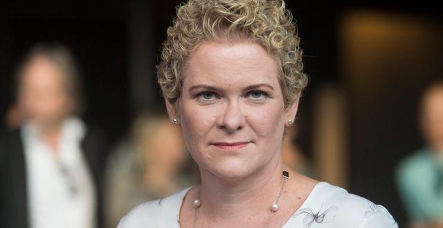 Karin Wanngård, oppositionsborgarråd i Stockholms stad.  Fredrik Sandberg/TT / TT NYHETSBYRÅN