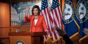 Talmannen Nancy Pelosi driver utredningen om en riksrättsprocess. J. Scott Applewhite / TT NYHETSBYRÅN