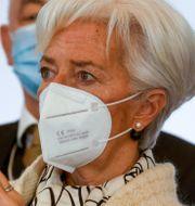 ECB-chefen Christine Lagarde. Arkivbild. Ludovic Marin / TT NYHETSBYRÅN