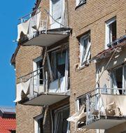 Byggnaden dagen efter explosionen i juni Jeppe Gustafsson/TT / TT NYHETSBYRÅN