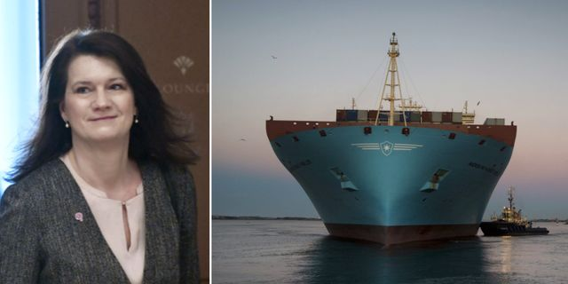 Ann Linde, containerskepp i Göteborgs hamn. Arkivbilder. TT