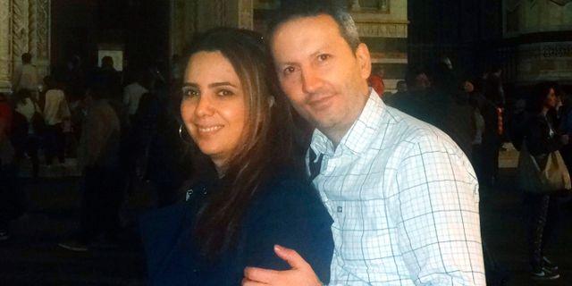 KI-forskaren Ahmadreza Djalali tillsammans med sin fru Vida Mehrannia. Privat / Privat