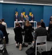 Bild från dagens pressträff. Janerik Henriksson/TT / TT NYHETSBYRÅN