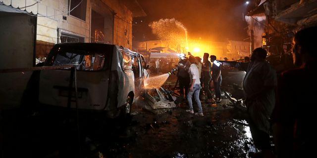 Bomben exploderade under söndagskvällen.  KHALIL ASHAWI / TT NYHETSBYRÅN
