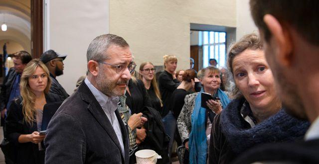 Aron Flam och advokat Monique Wadsted. I dag inleds Jessica Gow/TT / TT NYHETSBYRÅN