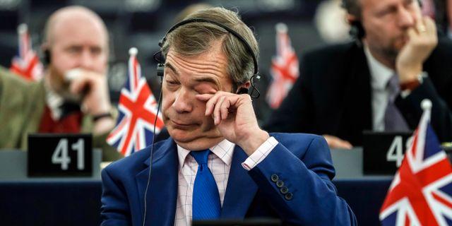 Den brittiske EU-parlamentarikern Nigel Farage Jean Francois Badias / TT NYHETSBYRÅN/ NTB Scanpix