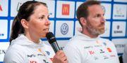 Charlotte Kalla och Magnus Ingesson. Anders Wiklund/TT / TT NYHETSBYRÅN