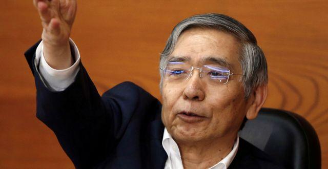 Japans centralbankschef Haruhiko Kuroda var en av personerna som kritiserade Trumps utspel. Issei Kato / TT NYHETSBYRÅN