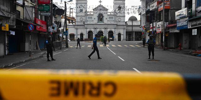 Avspärrningar vid St. Anthony-kyrkan i Colombo. JEWEL SAMAD / AFP