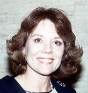 Diana Rigg 1984.  PETER KEMP / TT NYHETSBYRÅN