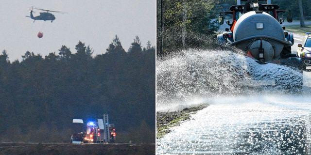Branden i Hästveda. Johan Nilsson/TT