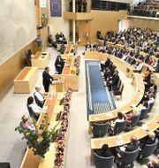 Statsminister Stefan Löfven talar vid riksmötets öppnande 2019. Claudio Bresciani/TT / TT NYHETSBYRÅN