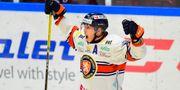 Växjös Tuomas Kiiskinen (19) jublar efter 0-1. Björn Lindgren/TT / TT NYHETSBYRÅN