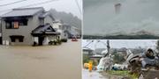 Tyfonen har lett till stor förödelse. TT