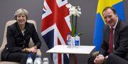 Arkivbild: Löfven och May under EU-toppmöte i Göteborg i november 2016. TT