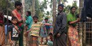 Flyktingar som flytt sina hem i Burma i ett provisoriskt läger i Bangladesh STAFF / TT NYHETSBYRÅN