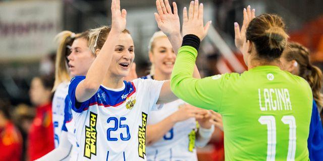 Ryssland firar efter segern mot Spanien,  LUDVIG THUNMAN / BILDBYRÅN