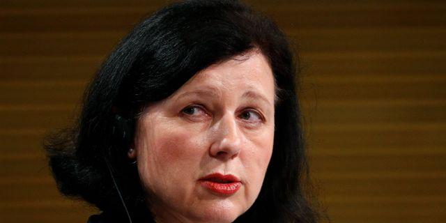 EU-kommisionens vice ordförande Vera Jourová. FRANCOIS LENOIR / TT NYHETSBYRÅN