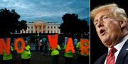 Protester utanför Vita huset / Donadl Trump.  TT