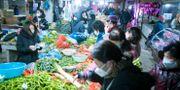 En marknad i Wuhan. Xiao Yijiu / TT NYHETSBYRÅN