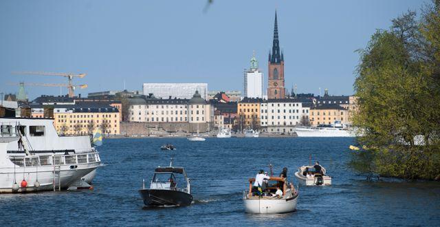 Båtar på väg ut ur Pålsundet i Stockholm. Henrik Montgomery/TT / TT NYHETSBYRÅN