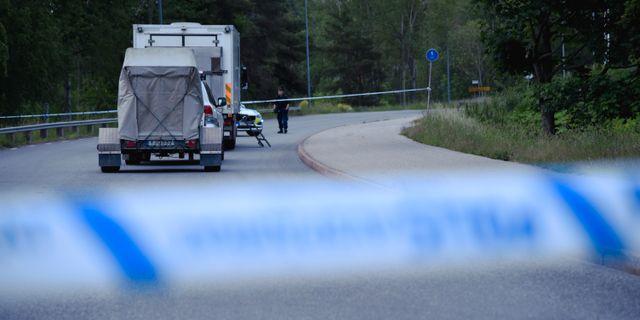 En explosion inträffade i Flemingsberg i Huddinge kommun natten till måndag. MARKO SÄÄVÄLÄ/TT / TT NYHETSBYRÅN