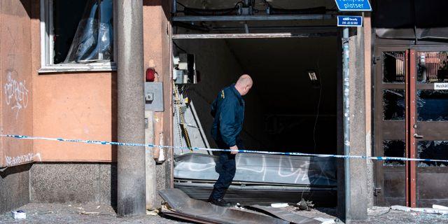 Bild från garaget.  Johan Nilsson/TT / TT NYHETSBYRÅN