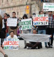 Asylsökande demonstrerande flyktingar 2016. Arkivbild.  Fredrik Sandberg/TT / TT NYHETSBYRÅN