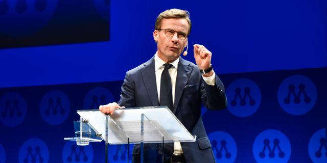 Moderaternas partiledare Ulf Kristersson.  Linus Svensson/TT / TT NYHETSBYRÅN