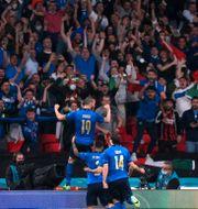 Leonardo Bonucci firar sitt mål i EM-finalen. LAURENCE GRIFFITHS / BILDBYRÅN